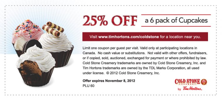 Cold stone creamery coupons 2019