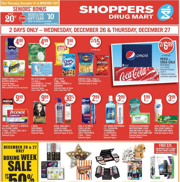 shoppers drug mart boxing week sale flyer dec 26 27 vancouver