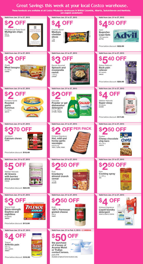 Costco january coupons