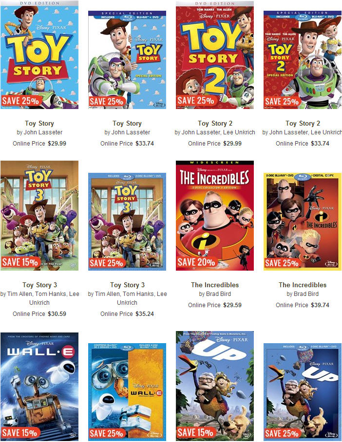 Chapters Indigo Disney Movies up to 60 Off + $5 Off Promo Code + Free Shipping