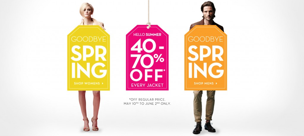 Danier Spring Clearance Sale - 40-70 Off Every Jacket (May 10 - June 2)