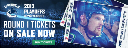 HOT DEAL Vancouver Canucks - 50 Off Playoff Tickets