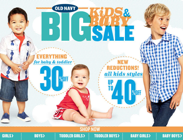 Old Navy 30 Off Everything for Baby & Toddler (Until May 22)