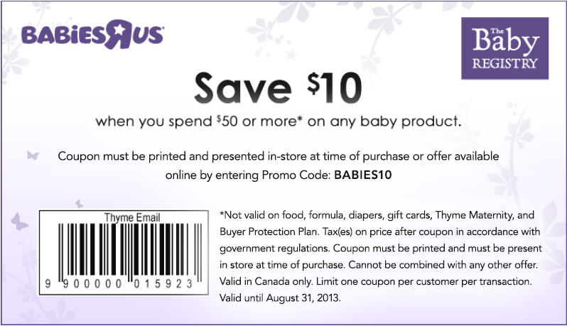 Babies are us discount coupons