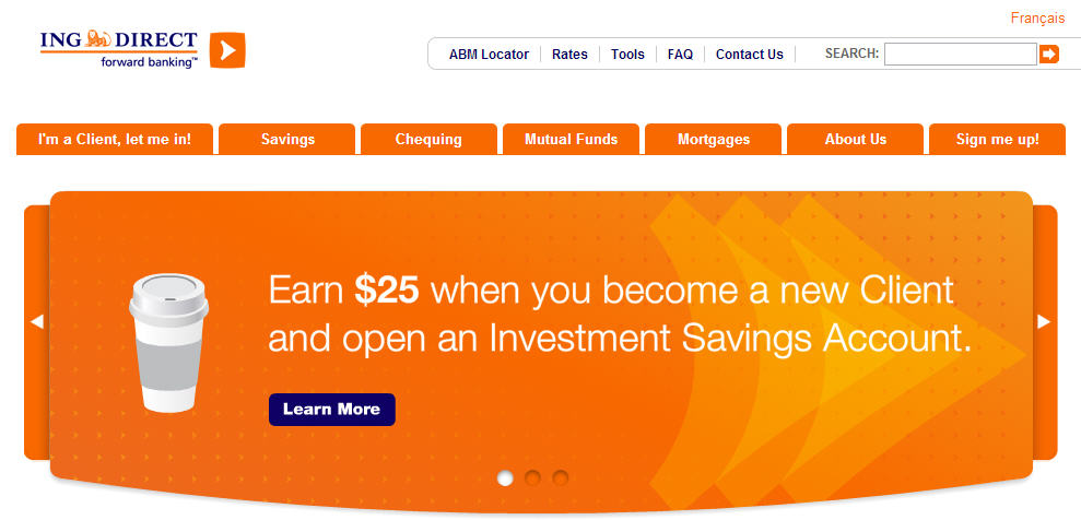ING Direct FREE $25 Bonus + 250 Interest when you Open an Account (Until Aug 31)