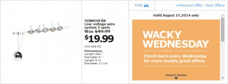 IKEA - Vancouver Wacky Wednesday Deal of the Day (Aug 27) B