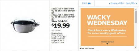 IKEA - Vancouver Wacky Wednesday Deal of the Day (Oct 22) A