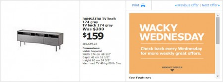 IKEA - Vancouver Wacky Wednesday Deal of the Day (Oct 22) C