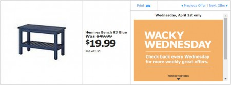IKEA - Vancouver Wacky Wednesday Deal of the Day (Apr 1) A