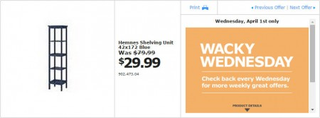 IKEA - Vancouver Wacky Wednesday Deal of the Day (Apr 1) B
