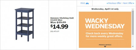 IKEA - Vancouver Wacky Wednesday Deal of the Day (Apr 1) C