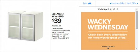 IKEA - Vancouver Wacky Wednesday Deal of the Day (Apr 1) D
