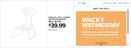 IKEA - Vancouver Wacky Wednesday Deal of the Day (Apr 15) A