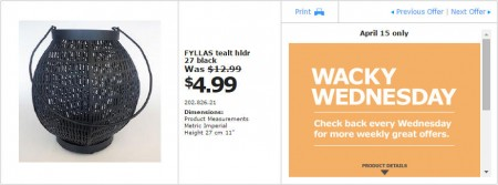 IKEA - Vancouver Wacky Wednesday Deal of the Day (Apr 15) B