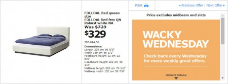 IKEA - Vancouver Wacky Wednesday Deal of the Day (Apr 15) C