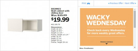 IKEA - Vancouver Wacky Wednesday Deal of the Day (Apr 15) D