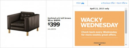 IKEA - Vancouver Wacky Wednesday Deal of the Day (Apr 22) A