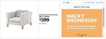 IKEA - Vancouver Wacky Wednesday Deal of the Day (Apr 22) B