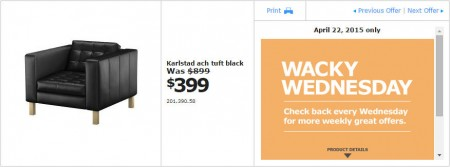 IKEA - Vancouver Wacky Wednesday Deal of the Day (Apr 22) C