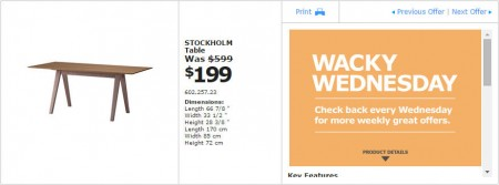 IKEA - Vancouver Wacky Wednesday Deal of the Day (Apr 22) E