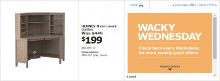 IKEA - Vancouver Wacky Wednesday Deal of the Day (Apr 29) A