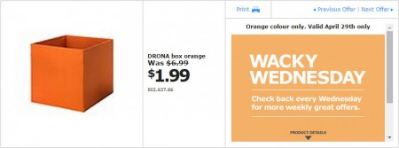 IKEA - Vancouver Wacky Wednesday Deal of the Day (Apr 29) B