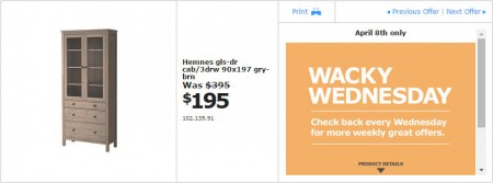 IKEA - Vancouver Wacky Wednesday Deal of the Day (Apr 8) Richmond A