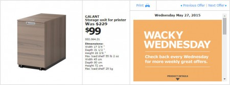 IKEA - Vancouver Wacky Wednesday Deal of the Day (May 27)
