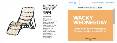 IKEA - Vancouver Wacky Wednesday Deal of the Day (June 17)