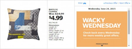 IKEA - Vancouver Wacky Wednesday Deal of the Day (June 24) B