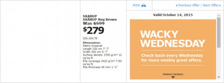 IKEA - Vancouver Wacky Wednesday Deal of the Day (Oct 14) A