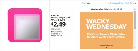 IKEA - Vancouver Wacky Wednesday Deal of the Day (Oct 14) B