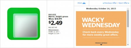 IKEA - Vancouver Wacky Wednesday Deal of the Day (Oct 14) C