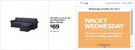 IKEA - Vancouver Wacky Wednesday Deal of the Day (Oct 28) A