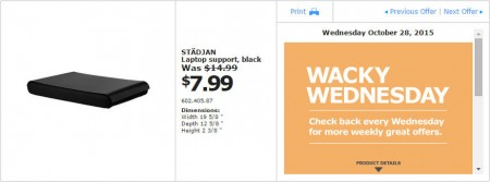 IKEA - Vancouver Wacky Wednesday Deal of the Day (Oct 28) B