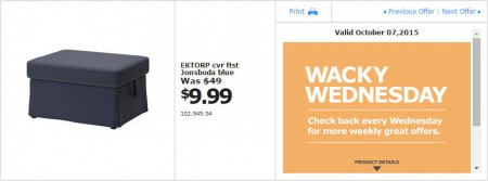 IKEA - Vancouver Wacky Wednesday Deal of the Day (Oct 7)