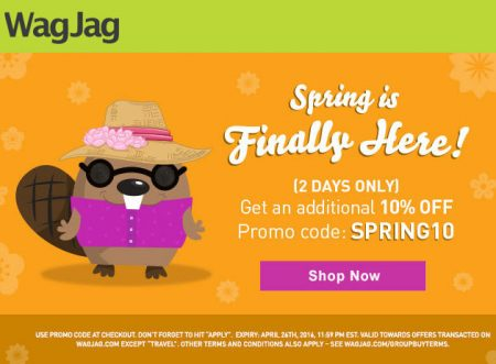 WagJag Extra 10 Off Promo Code (Apr 25-26)