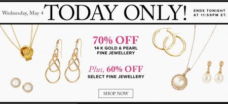 TheBay Today Only - 70 Off 14K Gold & Pearl Fine Jewellery (May 4)